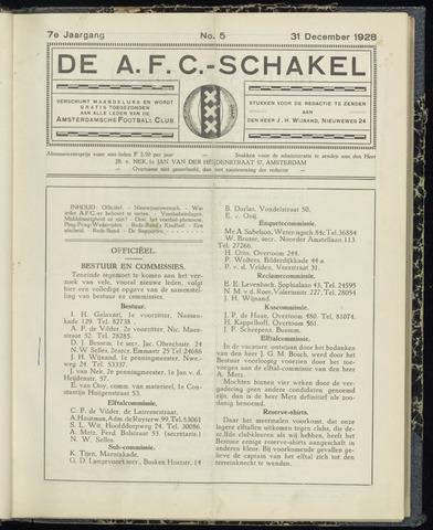 Schakels (clubbladen) 1928-12-31
