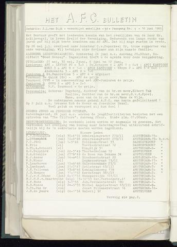 Bulletins (vnl. opstellingen) 1966-06-16