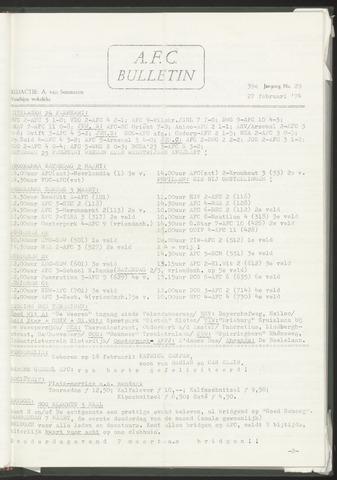 Bulletins (vnl. opstellingen) 1974-02-27