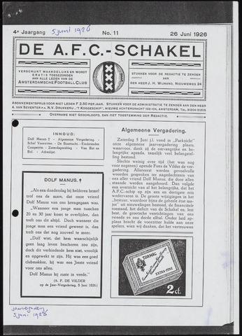 Schakels (clubbladen) 1926-06-05