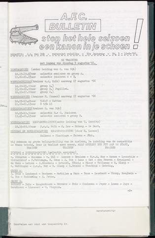 Bulletins (vnl. opstellingen) 1966-08-10