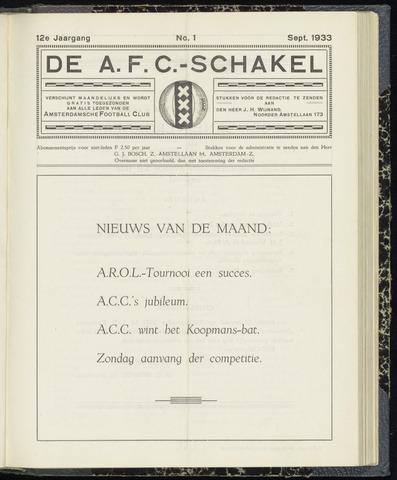 Schakels (clubbladen) 1933-09-01