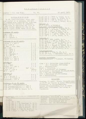 Bulletins (vnl. opstellingen) 1963-04-16
