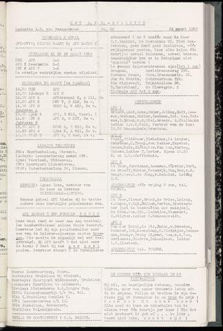 Bulletins (vnl. opstellingen) 1959-03-25