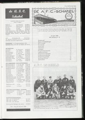 Schakels (clubbladen) 1986-04-23