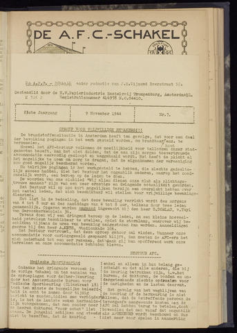 Schakels (clubbladen) 1944-11-09