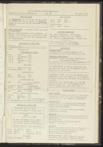 Bulletins (vnl. opstellingen) 1952-04-29