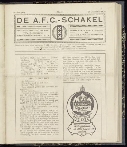 Schakels (clubbladen) 1926-12-18