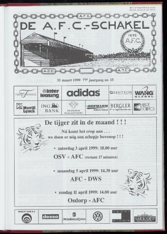 Schakels (clubbladen) 1999-03-31