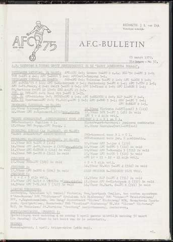 Bulletins (vnl. opstellingen) 1970-03-25