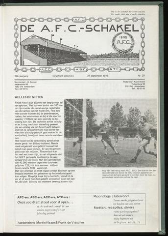 Schakels (clubbladen) 1978-09-27