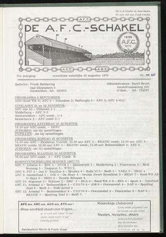 Schakels (clubbladen) 1976-08-25