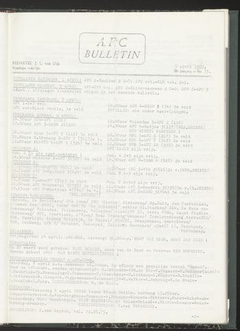 Bulletins (vnl. opstellingen) 1972-04-05