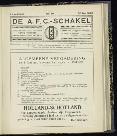 Schakels (clubbladen) 1929-05-30
