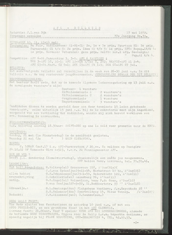 Bulletins (vnl. opstellingen) 1972-05-17