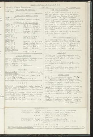 Bulletins (vnl. opstellingen) 1958-02-12
