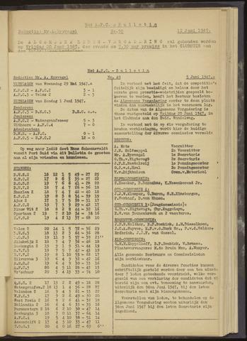 Bulletins (vnl. opstellingen) 1947-06-05