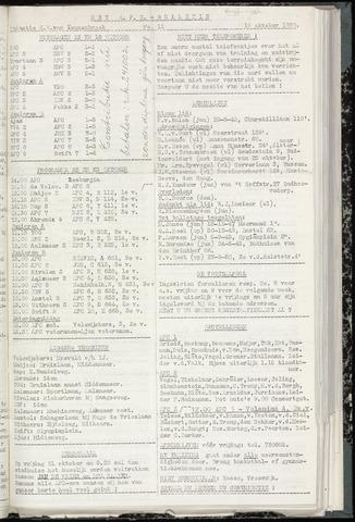 Bulletins (vnl. opstellingen) 1960-10-18