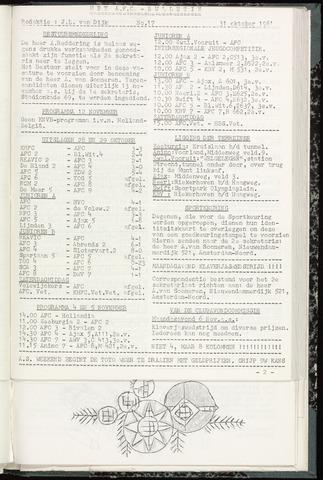 Bulletins (vnl. opstellingen) 1961-10-31