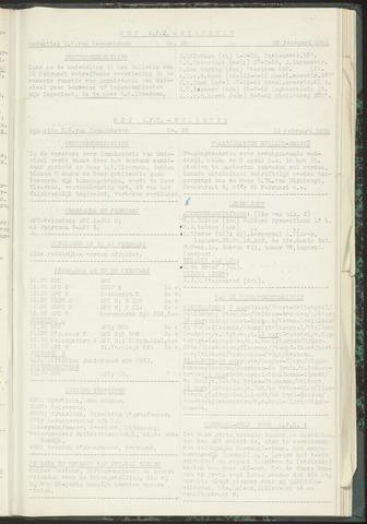 Bulletins (vnl. opstellingen) 1955-02-15