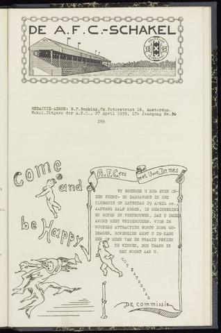 Schakels (clubbladen) 1939-04-27