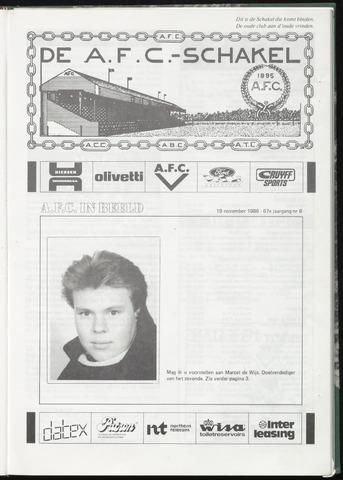 Schakels (clubbladen) 1986-11-19