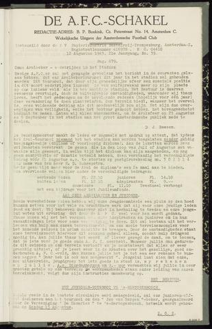 Schakels (clubbladen) 1943-08-12