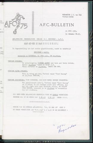 Bulletins (vnl. opstellingen) 1969-06-18