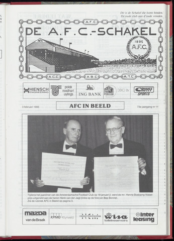 Schakels (clubbladen) 1993-02-03
