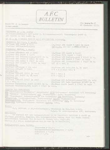 Bulletins (vnl. opstellingen) 1973-02-28