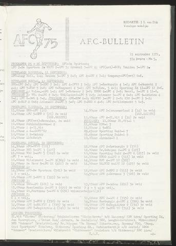 Bulletins (vnl. opstellingen) 1971-09-15