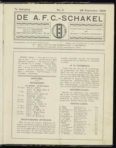 Schakels (clubbladen) 1928-09-28