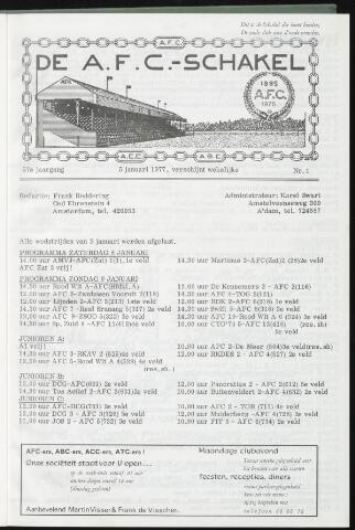Schakels (clubbladen) 1977-01-05