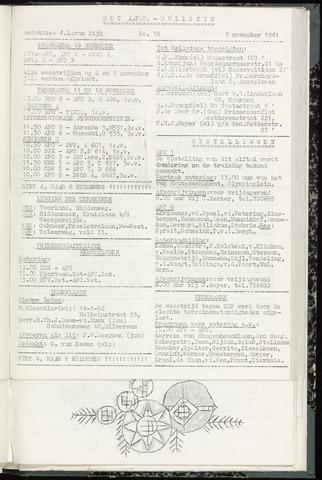 Bulletins (vnl. opstellingen) 1961-11-07
