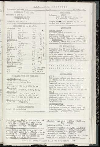 Bulletins (vnl. opstellingen) 1961-04-26