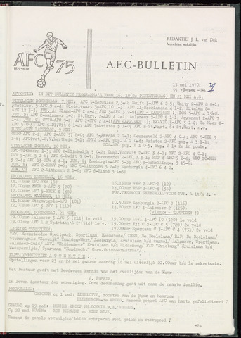 Bulletins (vnl. opstellingen) 1970-05-12