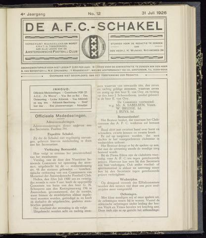 Schakels (clubbladen) 1926-07-31