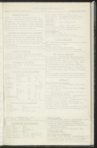 Bulletins (vnl. opstellingen) 1956-09-18