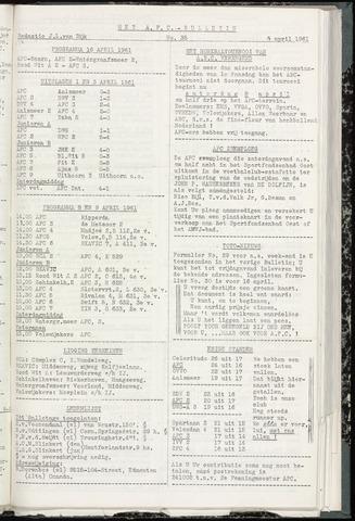 Bulletins (vnl. opstellingen) 1961-04-05