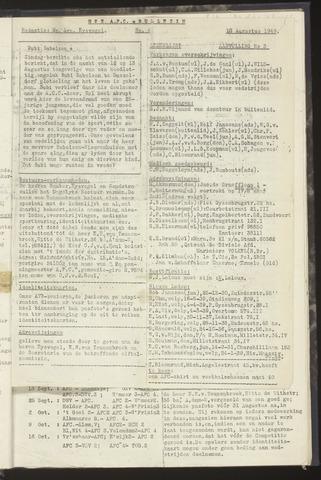 Bulletins (vnl. opstellingen) 1949-08-18