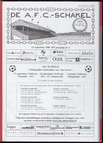 Schakels (clubbladen) 2006-09-13