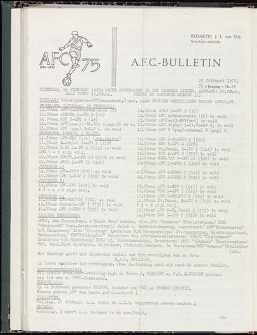 Bulletins (vnl. opstellingen) 1970-02-25