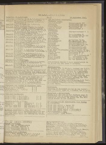 Bulletins (vnl. opstellingen) 1947-09-18