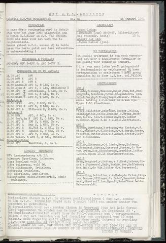 Bulletins (vnl. opstellingen) 1961-01-24