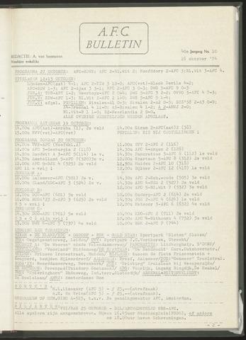 Bulletins (vnl. opstellingen) 1974-10-16