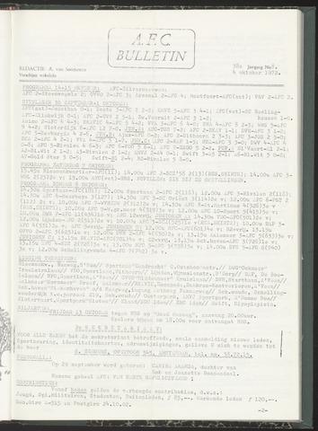 Bulletins (vnl. opstellingen) 1972-10-04