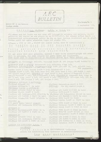 Bulletins (vnl. opstellingen) 1973-09-05