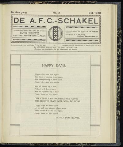 Schakels (clubbladen) 1930-10-01