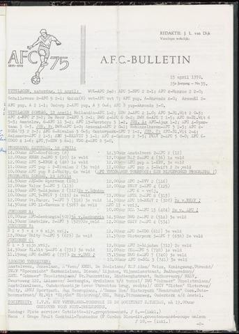 Bulletins (vnl. opstellingen) 1970-04-15