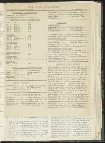 Bulletins (vnl. opstellingen) 1953-10-20